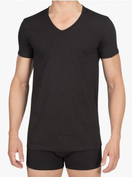 Alan Red T-shirt Dean Slim Fit Deep V-Neck