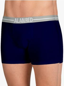 Alan Red Lasting Long Leg Boxer Silver ION 2-Pack