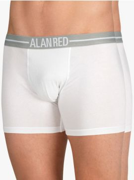 Alan Red Lasting Long Leg Boxershort Silver ION 2-Pack